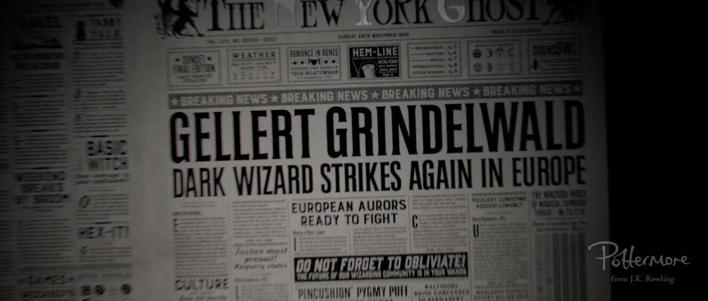 Los actos de Grindelwald se han notado en Estados Unidos.